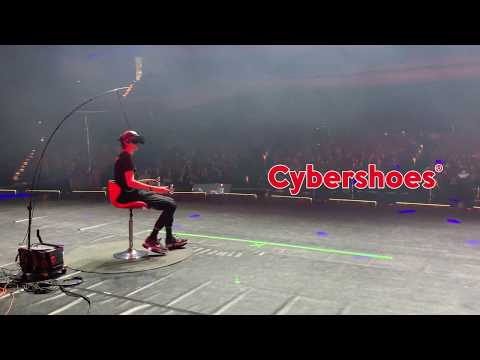 Cybershoes let you physically walk, run, and jump in VR without leaving your seat
