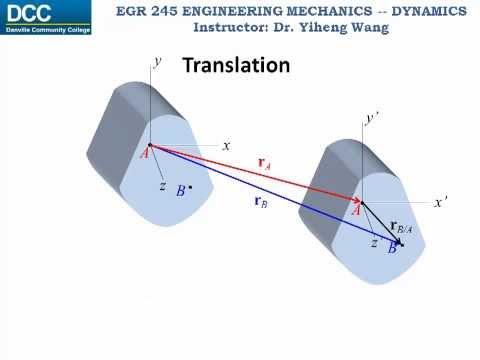 Dynamics Lecture 23: Rigid body planar motion -- Translation
