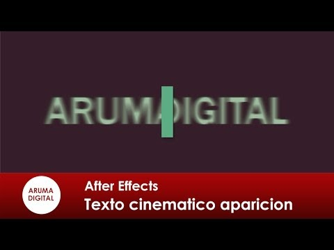 After Effects 133 Texto cinematico aparicion con mascara