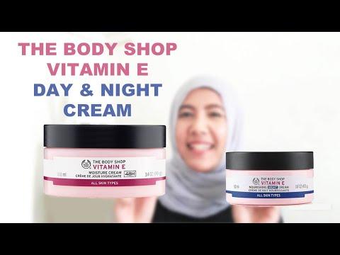 The Body Shop Vitamine E Moisture Day Cream and Night Cream - Review Bahasa  - English Subtitle
