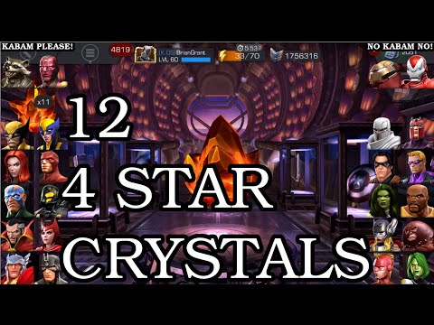 Unbelievable 12 FOUR STAR Crystal Opening | Marvel Contest of Champions