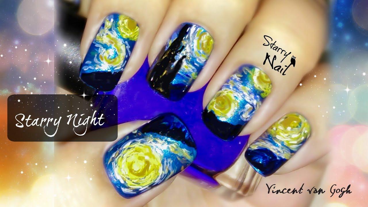 Vincent Van Gogh Starry Night Nail Art Tutorial