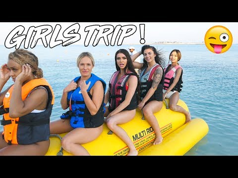 SEXY GIRLS TRIP IN EXCLUSIVE ABU DHABI PRIVATE ISLAND! *Boating Fail*