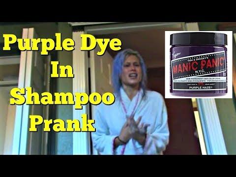 PURPLE DYE IN SHAMPOO PRANK - Top Boyfriend and Girlfriend Pranks