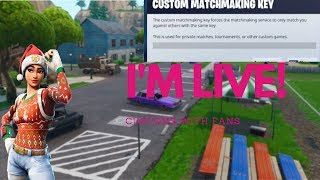 Fortnite Customs || Squads fill || Public Code || NA EAST || Pro-Noob || R3X Nation on fire!