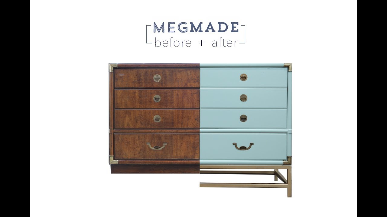 Megmade Before After Mint Campaign Dresser Youtube