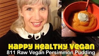 Raw Vegan Persimmon Pudding Recipe Demo
