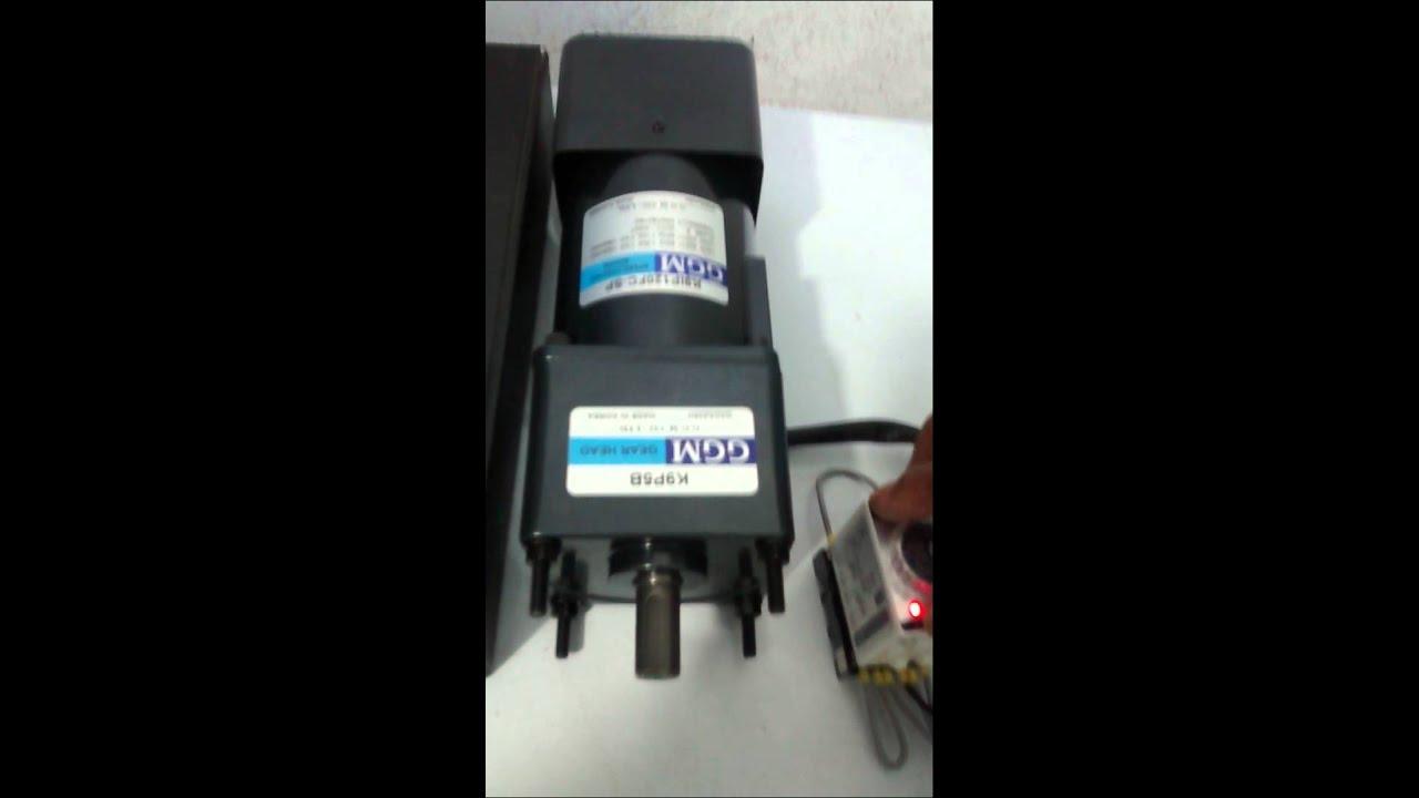 Motorreductor con variador de velocidad - YouTube