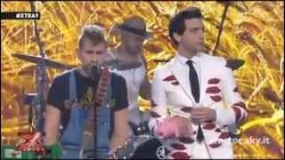 X Factor : Iron Mais cantano Sei un mito ( Max Pezzali / 883 ) Live