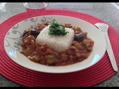 recette-de-porc-à-l'aubergine-sauté-sauce-gochujang-(pâte-de-piment-coréenne)