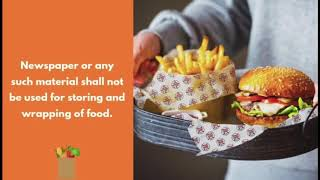 Food Safety and Standards (Packaging) Regulations, 2018