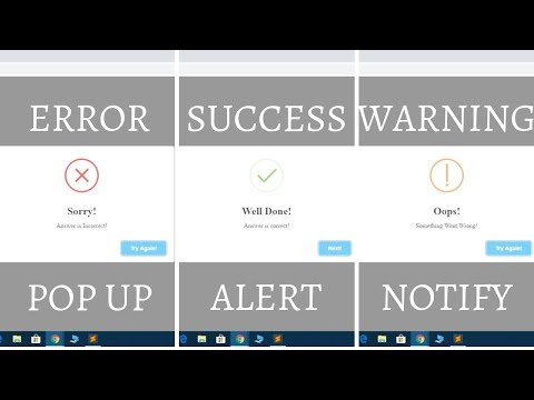 All PopUp Alert Tutorial In One Video | Best Animation Alert PopUp Plugin For JQuery And JavaScript