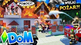 [*] MINECRAFT DOM #26 - DOM SIĘ PALI?! *koniec serii?!* | SIMSCRAFT