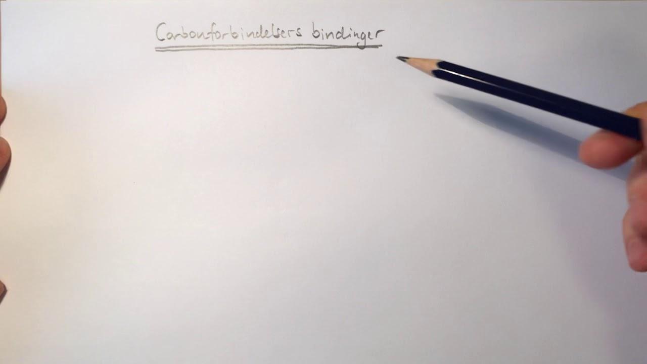 Carbonforbindelsers bindinger