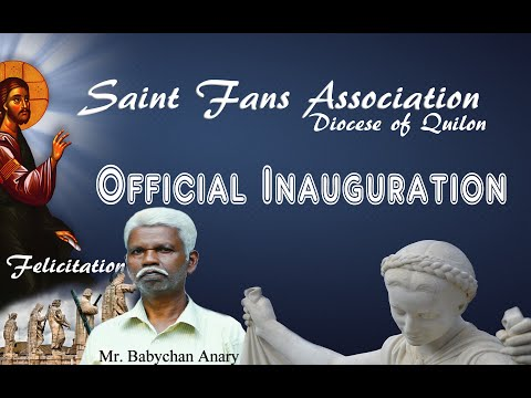 Saints Fans Association - Official Opening - Diocese of Quilon - Bro Babychan