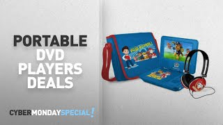 """Walmart Top Cyber Monday Portable Dvd Players Deals: Paw Patrol 7"""" Portable DVD Player with Carrying"""