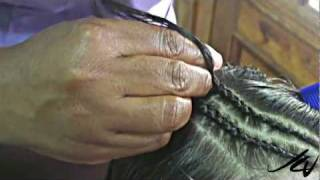 How to Do Jamaican Cornrow  Braids - YouTube