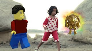 Temple run blazing sands in real life    minecraft    Funny Kids