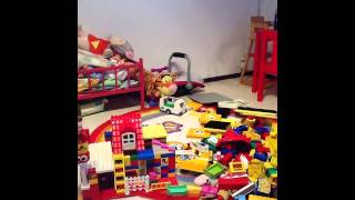 My Daughter Kajsa, building a House with her Lego Duplo