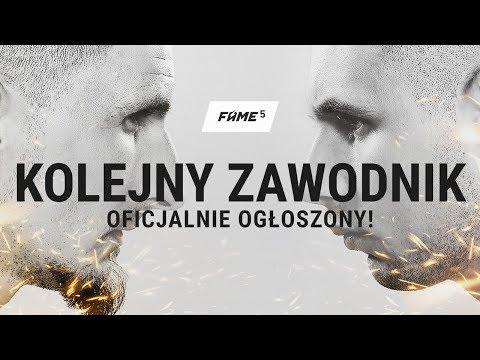 KOLEJNY ZAWODNIK FAME MMA 5 OGŁOSZONY!