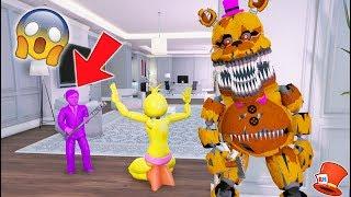 ANIMATRONICS vs PURPLE GUY'S KID! PURPLE BOY! (GTA 5 Mods For Kids FNAF RedHatter)