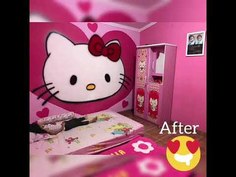 78+ Model Foto Kamar Tidur Hello Kitty Sederhana Paling Bagus