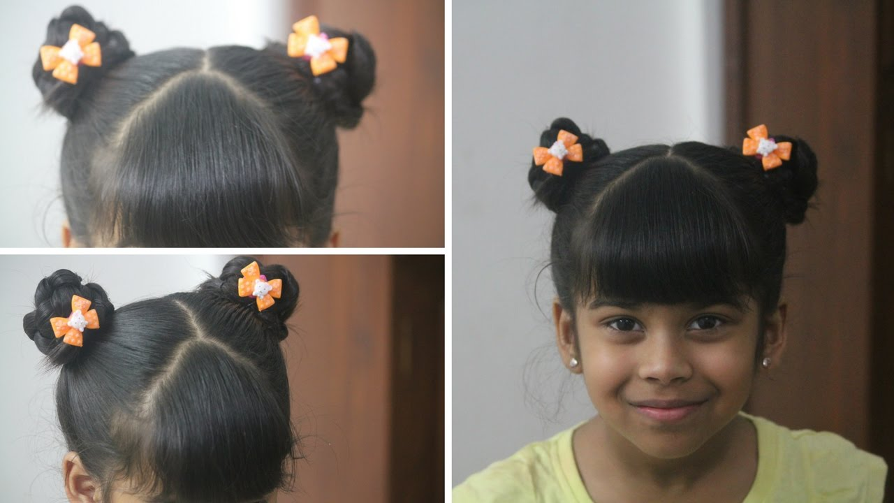 Cute Hairstyles - How to make Double braided buns - DIY Kids ...