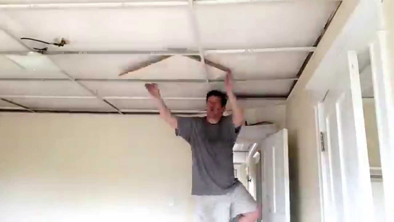 Time lapse video removal of drop ceiling tiles youtube time lapse video removal of drop ceiling tiles dailygadgetfo Images