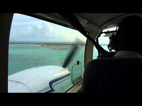 Landing in Ambergris Cay