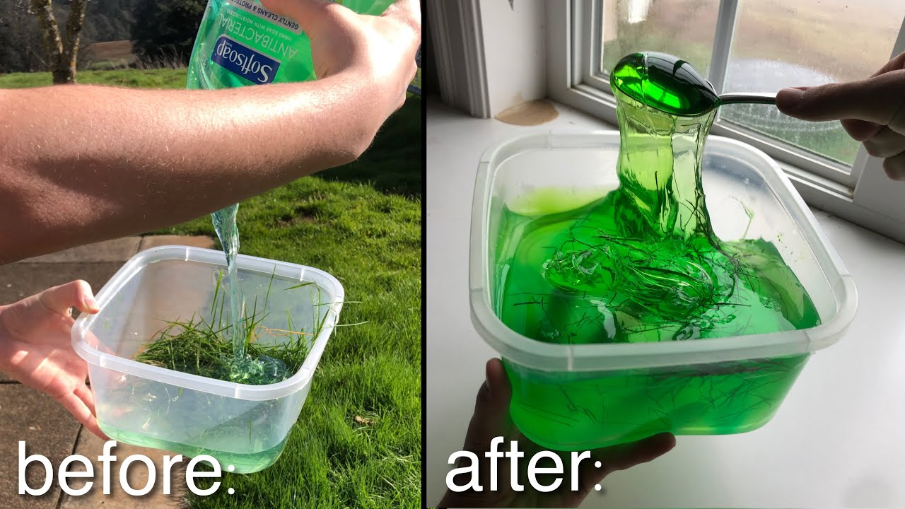 Download GRASS + SOAP = SLIME? 💚 Testing NO GLUE slime recipes!