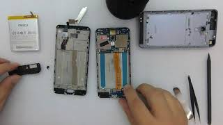 Meizu M5S Disassembly,Screen Repair,Battery Replace,Charge fix,Home Button,Teardown