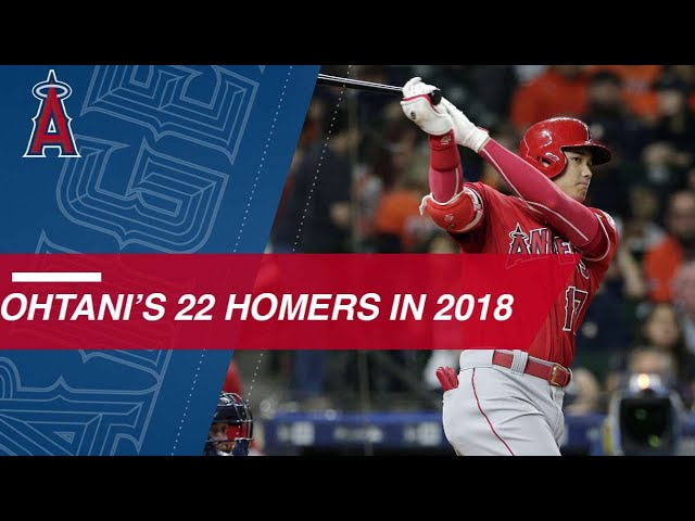 See all 22 of Shohei Ohtani's homers from 2018