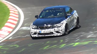 bmw m2 f87 continues testing on the nurburgring