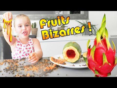 Dégustation : Ellie et Papa mangent des fruits exotiques étranges et bizarres ! Strange Food