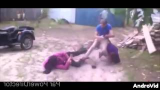Ukrainian Man Beats 2 Women With A Piece Of Wood & Knocks Out 2 Guys!