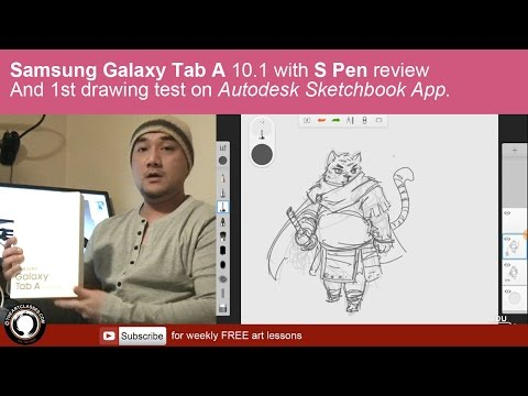 Samsung Galaxy Tab A with S pen review and drawing test