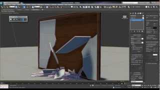 3ds Max 2012 Mirror Shattering (Mass FX) Tutorial Part (3/3)