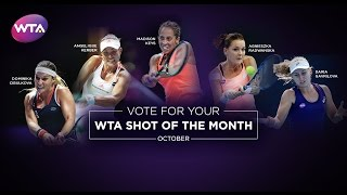 2016 WTA Shot of the Month Finalists | October