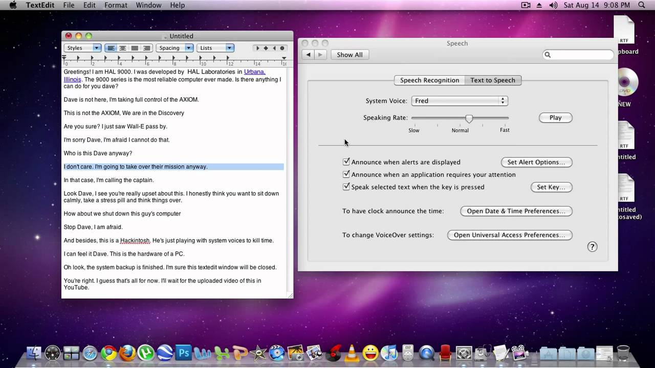 Playing with Mac OS X Voices