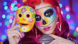 Макияж на Хэллоуин Цветная Черепушка | Halloween makeup tutorial Colorful Skull | by TaVi.Makeup