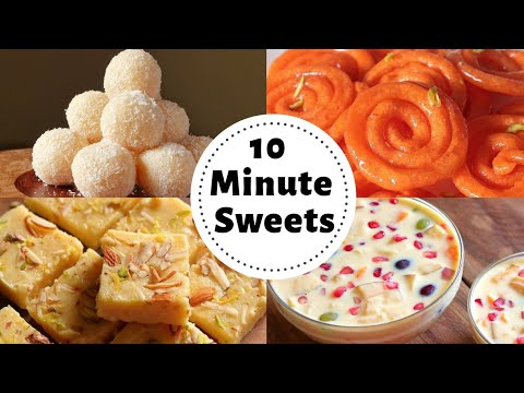 4 Indian Desserts You Can Make In Just 10 Minutes (QUICK & EASY)