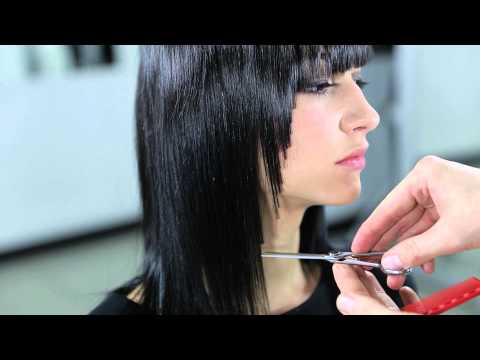 Medium Length Line Haircut Technique