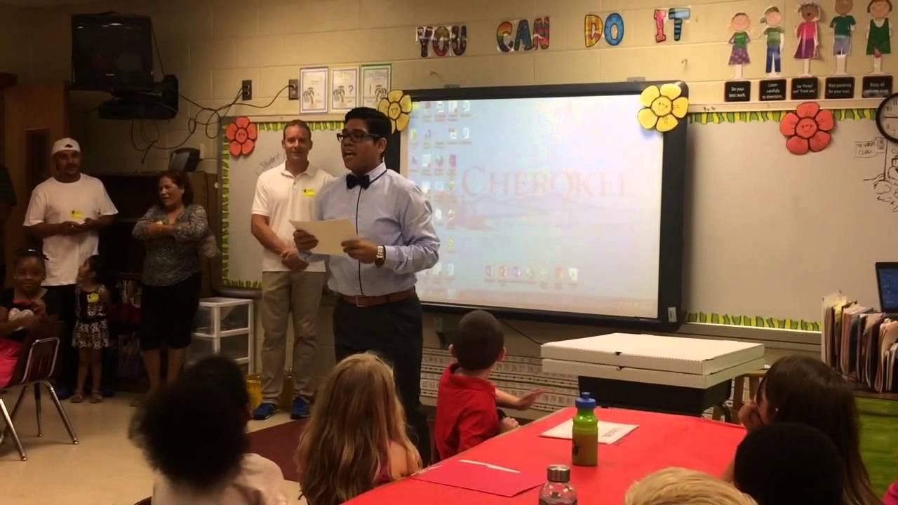 Kailani receives IXL (math) award- 2nd grade - YouTube