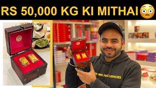 Rs 50,000 per kg ki Mithai at Chhappan Bhog 😳😳 || क्या ये दुनिया की सबसे महंगी मिठाई हे??