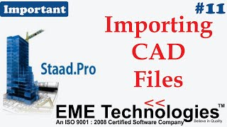 How to Import Cad file Into Staad Pro