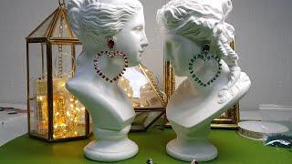 스와로브스키 원석으로 하트 귀걸이 만들기(주부의 취미생…