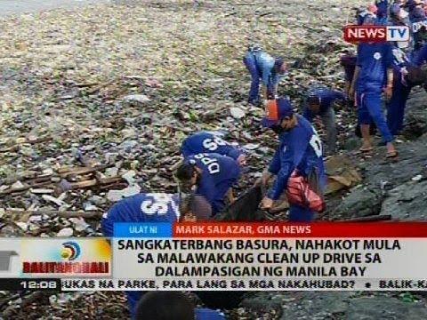 Sangkaterbang basura, nahakot mula sa malawakang clean up drive sa dalampasigan ng Manila Bay