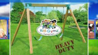 Watch Our Video! See Our Wooden Playground Swing Set In Action!