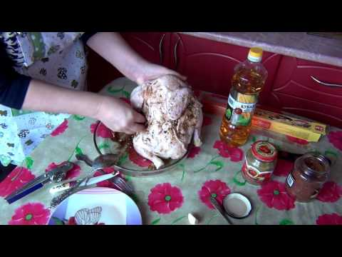 Курица в рукаве с картофелем