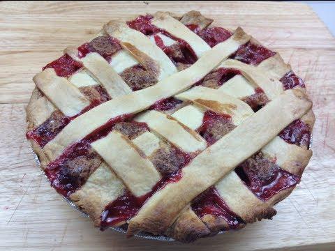 Strawberry Rhubarb & Custard Pie - Video recipe